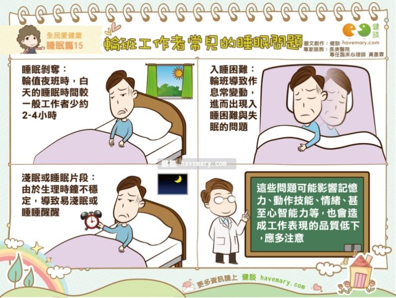 健康睡眠_輪班工作者常見的睡眠問題|全民愛健康 睡眠篇15;Shareba!分享吧