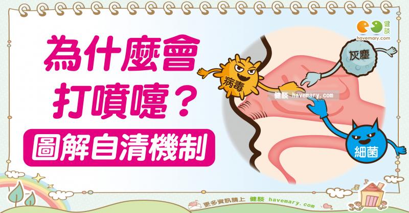 打噴嚏,打噴嚏原因,打噴嚏姿勢,健康圖文,健康漫畫,漫漫健康,圖解健康,吳書毅,吳書毅醫師,Sneezing, sneezing reason, sneezing posture,健談,健談網,havemary